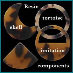 Click here to see our resin tortoise shell imitation components