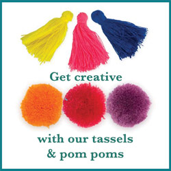 Click here to see our tassels and pom poms
